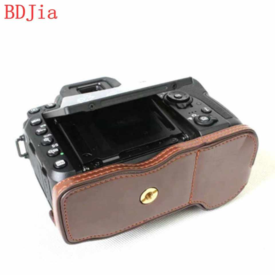Newest Camera Bag Case For Nikon D7500 PU Leather Half Body Set Cover With Battery Opening,Free Shipping