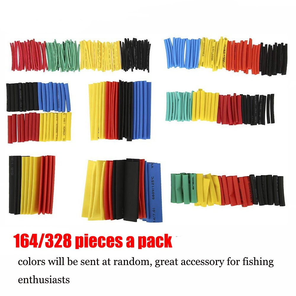 Shrinking 328Pcs Insulation Sleeving Thermal Casing Car Electrical Cable Tube Kits Heat Shrink Tube Tubing Set Sleeve Assorted