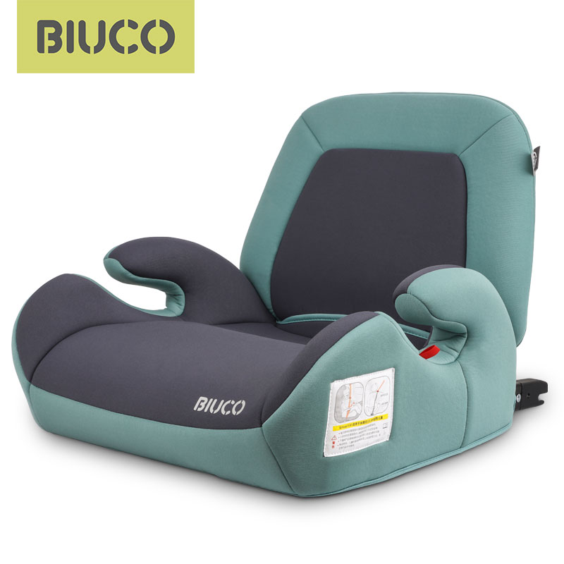 Assento do impulsionador do assento de carro de biuco com o conector isofix assentos de segurança do carro da criança aumentou a almofada do assento se encaixa para crianças 3-12 anos de idade