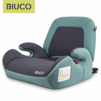 Siège rehausseur de siège de voiture BIUCO avec connecteur ISOFIX sièges de sécurité pour voiture d'enfant coussin de siège accru convient aux enfants de 3-12 ans