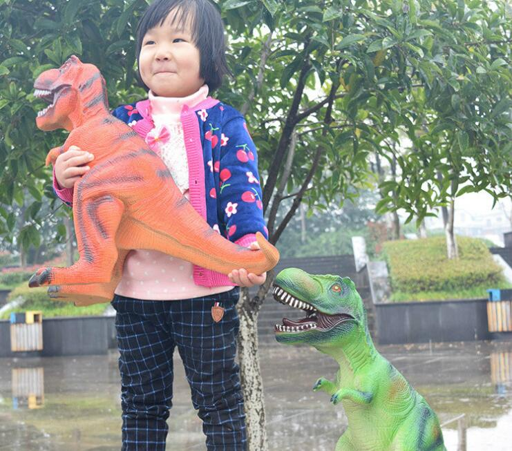 Big Size 65cm Dinosaur Toy Action Figures Tyrannosaurus Rex Soft Animal Model Boy Toy for Children Birthday Gift цена