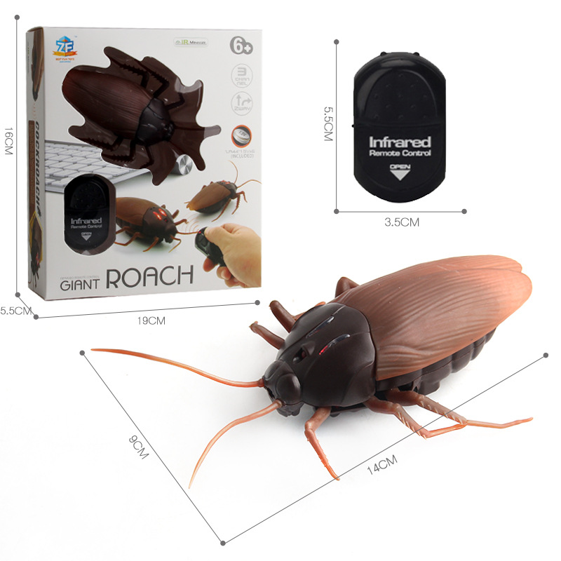 Radio Remote Control Realistic Fake Insect RC Insect Bug RC Prank Toys Insects Joke Scary Trick Cockroach