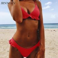 JRNNORV Sexy Two Pieces Swimsuit Female Swimwear Women Bikini Set Bathing Suit Swim Biquini Beachwear Bathing