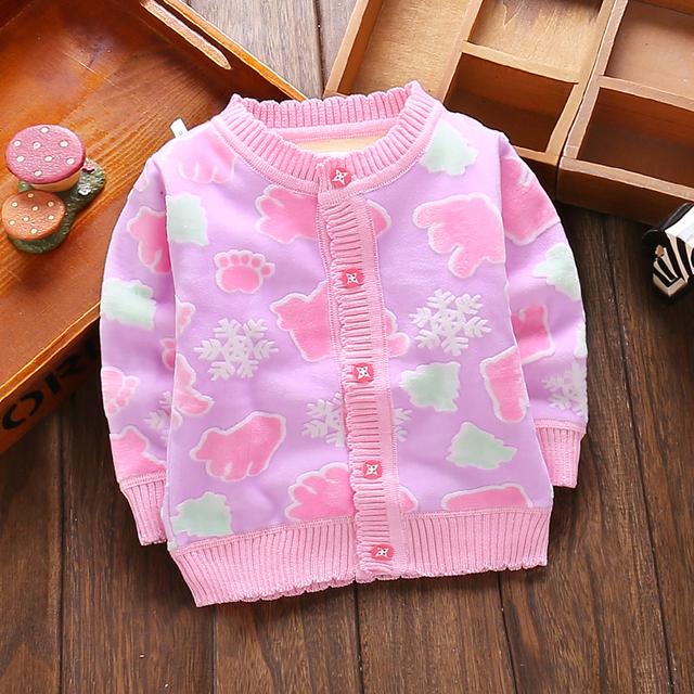 Envío libre Masculina ropa niños niñas bebé cardigan otoño y el invierno ropa interior térmica niño, además de terciopelo prendas de vestir exteriores