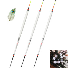 Shallow Water Peacock Feather Fishing Floats Carp Crucian Float Stopper Pesca Flotteur Bobbers Accessories Tackles