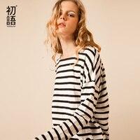 Toyouth T Shirts 2017 Spring Women T Shirt Stripe Printed Loose Base Casual Long Sleeve O