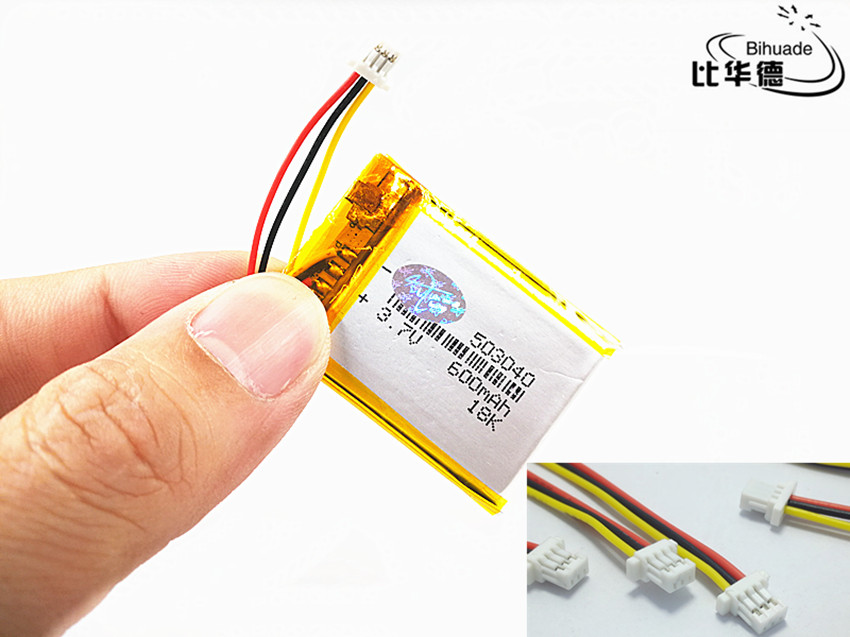 JST PH 1.0mm 3 pin Good Qulity 3.7V,600mAH 503040 Polymer lithium ion / Li-ion battery for tablet pc BANK,GPS,mp3,mp4JST PH 1.0mm 3 pin Good Qulity 3.7V,600mAH 503040 Polymer lithium ion / Li-ion battery for tablet pc BANK,GPS,mp3,mp4