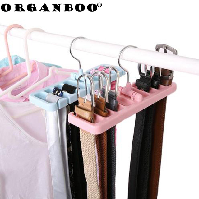 1pc Multifuction Tie Belt Storage Rack Rotating Ties Hanger Holder Closet Organization Wardrobe Finishing E Saver