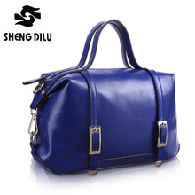 2016 Simple And Easy New Brand Women's Genuine Leather Handbag Europe Style Handbags Messenger Bag Dumplings Bag
