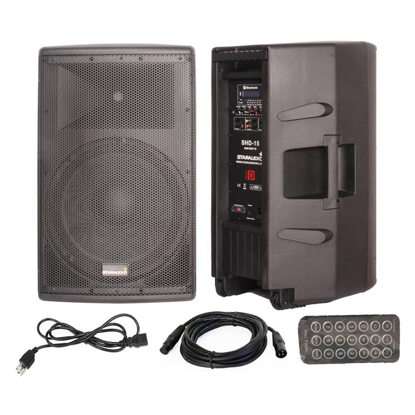 STARAUDIO 15 Inch Class D Active Powered Pro PA DJ 4000W 4-Os