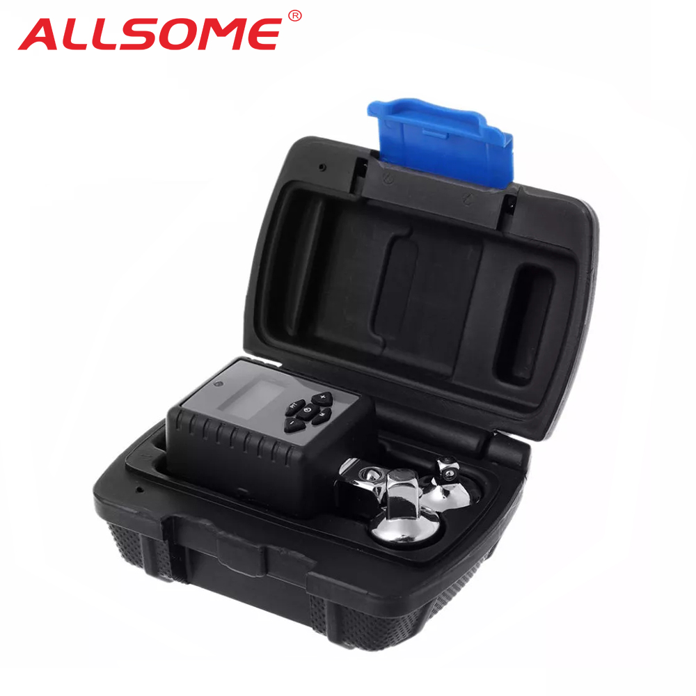 ALLSOME Digital Torque Wrench 1 2inch 2- 200Nm Adjustable Professional Electronic Torque Wrench Bike Car Repair HT2680-2685