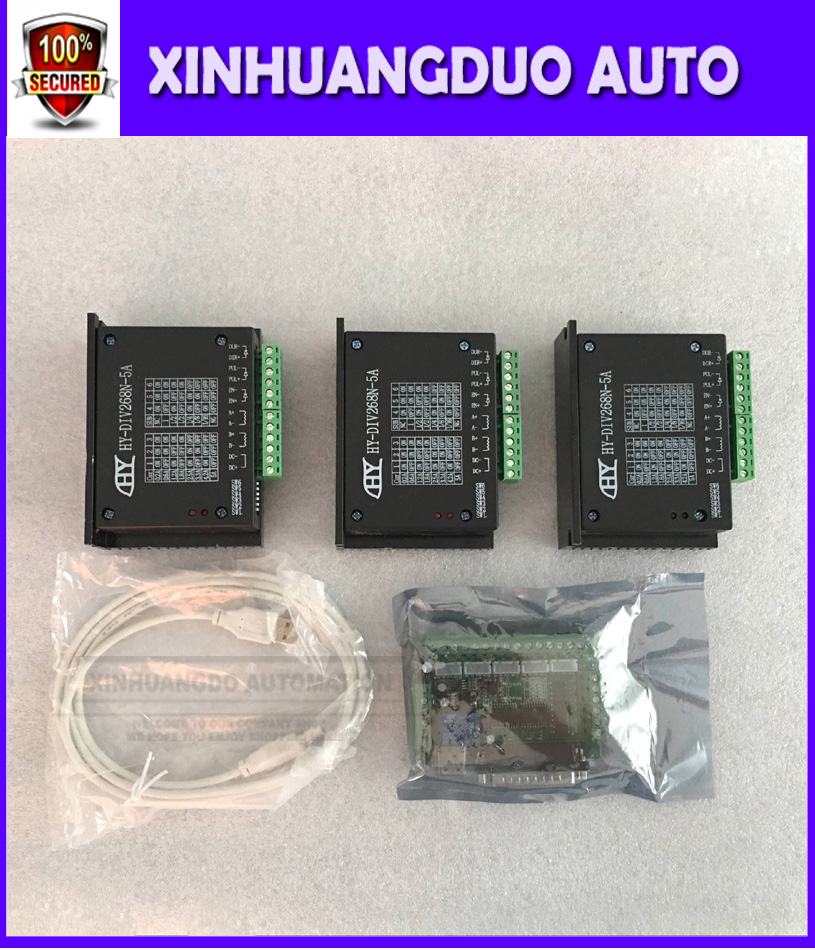 CNC Router 3 Axis Kit TB6600 3 Axis mach3 Stepper Motor Driver Controller kit 5A one