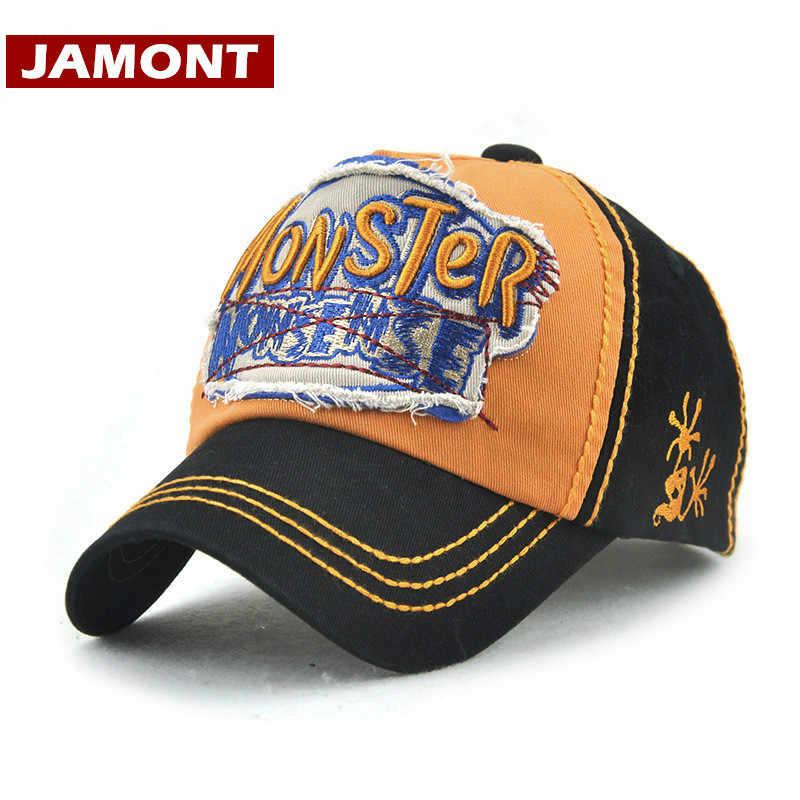 055d6b93 [JAMONT] Monster Vintage Distressed Embroidered Baseball Cap for Kids  Snapback Hat Boys Trucker Hat