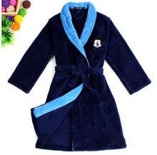 Nouvelle Année Cadeau de Bande Dessinée Kitty Chat Mickey Enfants Flanelle Robe Vêtements de nuit Doux Enfants Pyjamas Rou Pao Peignoir Enfant Bébé peignoir