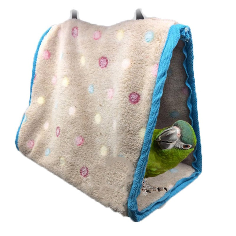 Bird Hanging Cotton Roost Birds Nest Hamster Hammock Triangular Nests Cave Cage Plush Hut Tent Bed Bunk Parrot Toy Pet Products