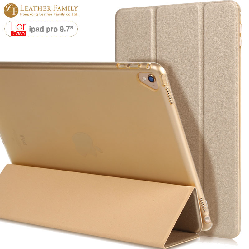 все цены на Case for iPad Pro 9.7 inch slim flip PU Leather Smart Cover with Trifold Stand Magnetic Auto Wake Tablet Case for iPad Pro 9.7 онлайн
