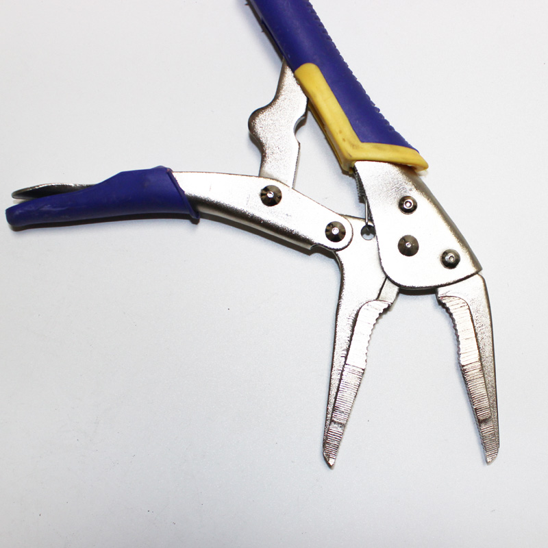 9 quot Long Needle Nose Mole Locking Vise Vice Grips Jaw Locking Hold Clamp Pliers in Pliers from Tools