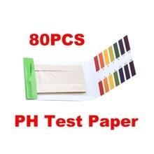 1 Набор, 80 полосок, тест на PH, тест-полоска для аквариума, пруда, воды, тест ing PH, лакмусовая бумага, полный диапазон, Щелочная кислота, 1-14, тест-бумага, тест на Лакмус