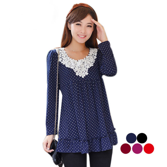 Fashion dot  maternity tops undershirt for spring pregnancy clothing