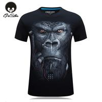 20 Style S 6XL 3D T Shirt Mens Hot 2016 Summer Animal Snake Tiger Wolf Lion