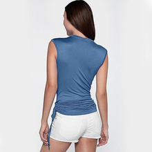Spring Casual Tops Down Collar Sleeveless Soft Stretch Pullover Blouses