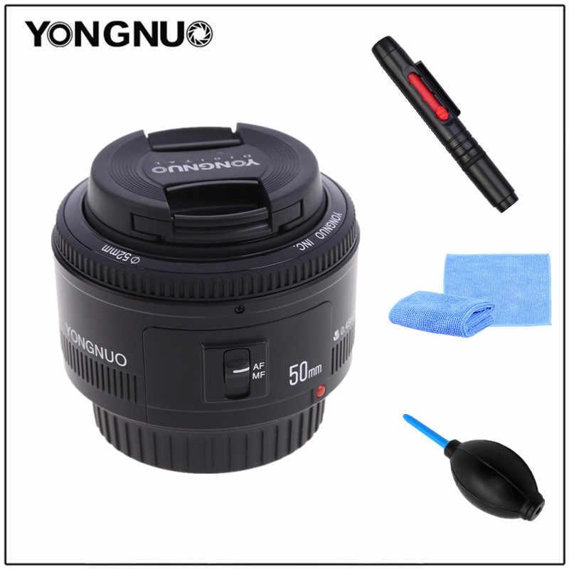 YONGNUO 50mm YN50MM F1.8 duży otwór przysłony auto soczewka skupiająca śladu środowiskowego AF/fundusz powierniczy dla Canon EOS 600D 550D 70D 700D 750D 1100D 1200D 1300D 200D