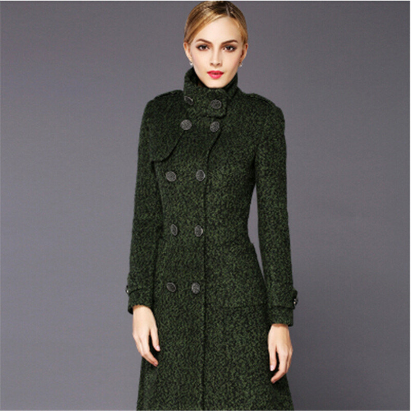 Army Haute Dernière Green Qualité De Vêtements Bn338 Tissu Parka Chantiers En Laine D'hiver Femmes Cachemire Manteau Épais Grands qadTdx7