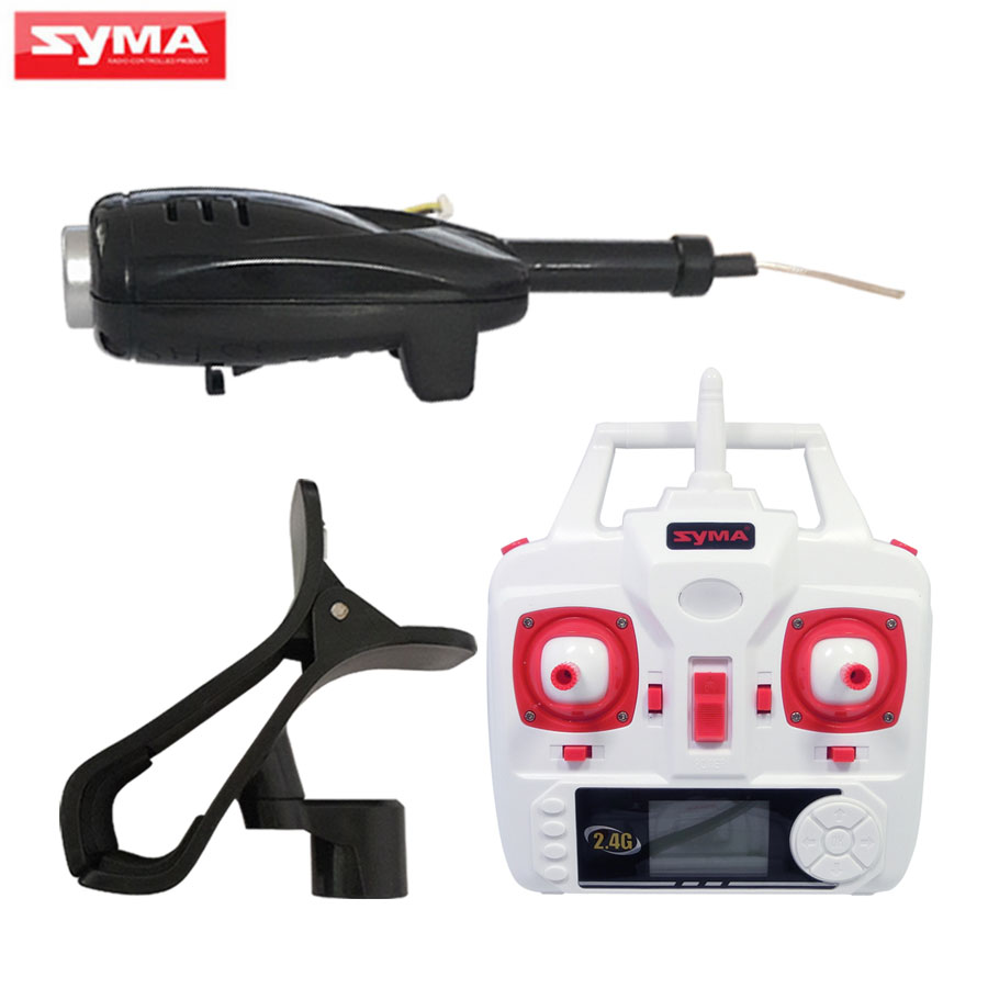 FPV SYMA X5HC X5HW RC Helicopters WiFi Camera + Phone Holder + Remote Controller Spare Parts transmitter Accessories syma x5c x5sc x5sw x5hc x5hw wifi fpv camera phone holder set for syma x5sc 1 x5hc 1 quadcopter