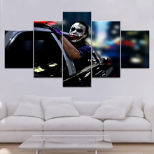 Batman Gotham City 5 Piece Canvas Wallpapers modern Modular Poster art painting for Living Room Home Decor