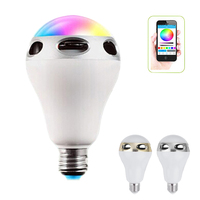 Smart E27 LED Lights RGB Wireless Bluetooth Speaker APP Remote Control Changing Colorful LED Lamp For
