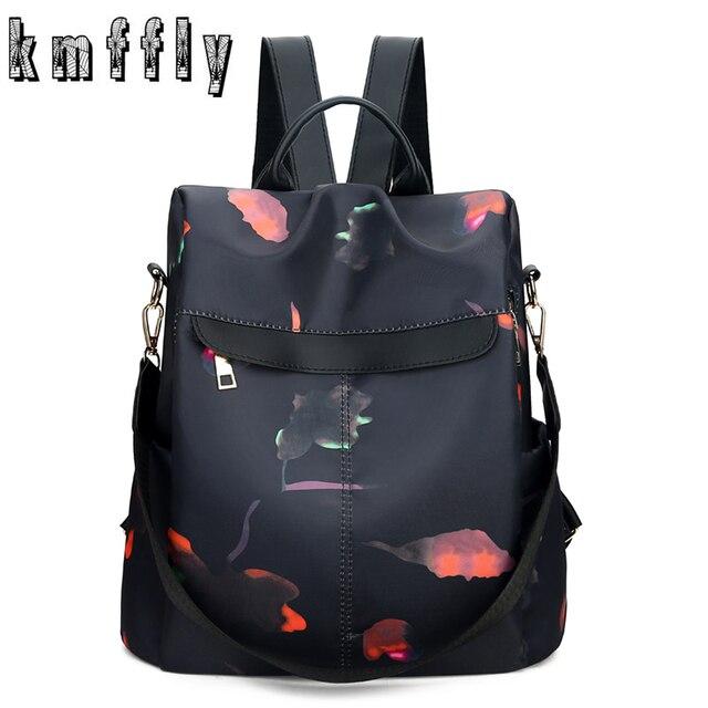 Fashion Waterproof Anti-theft Backpack Women Backpacks School Bags for Girls Black Oxford Famous Brand Mochila Feminina 2019