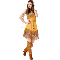 Native Indians Princess Goddess of Tribe role playing Costume Cosplay Christmas Halloween Indians Party Costumes Facy Dress