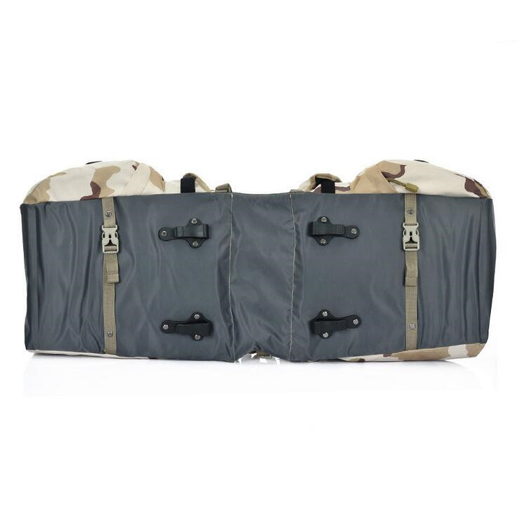 Retro Canvas Bicycle Luggage Bags 50L Bike Rear Rack Carrier Bag Cycling Outdoor Waterproof Storage Double Bags