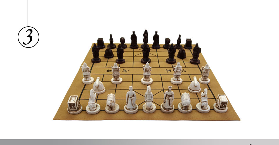 Easytoday Chinese Chess Games Set High-quality Synthetic Leather Chessboard Traditional Retro Chinese Table Entertainment Games Gift (3)