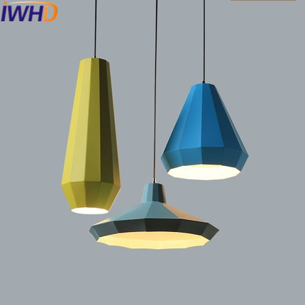 IWHD Iron LED Pendant Lights Modern Fashion Bedroom Hanging Lamp Dining Room Suspension Luminair Home Lighting Fixtures Lampara hghomeart children room iron aircraft pendant light led 110v 220v e14 led lamp boy pendant lights for dining room modern hanging