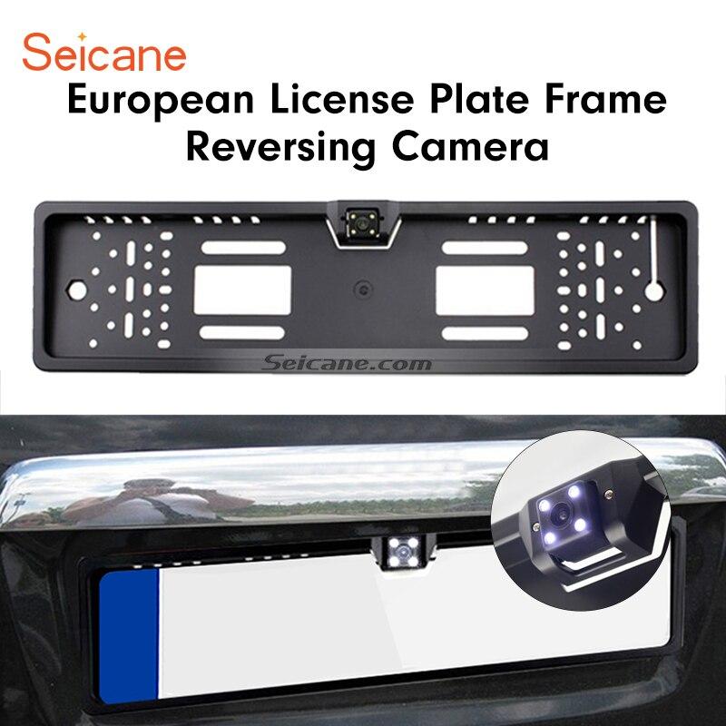 Seicane 170 Degrés HD Grand Angle de Vision Large Vision Nocturne Imperméable À L'eau pour Universal Européenne Plaque D'immatriculation Caméra De Recul