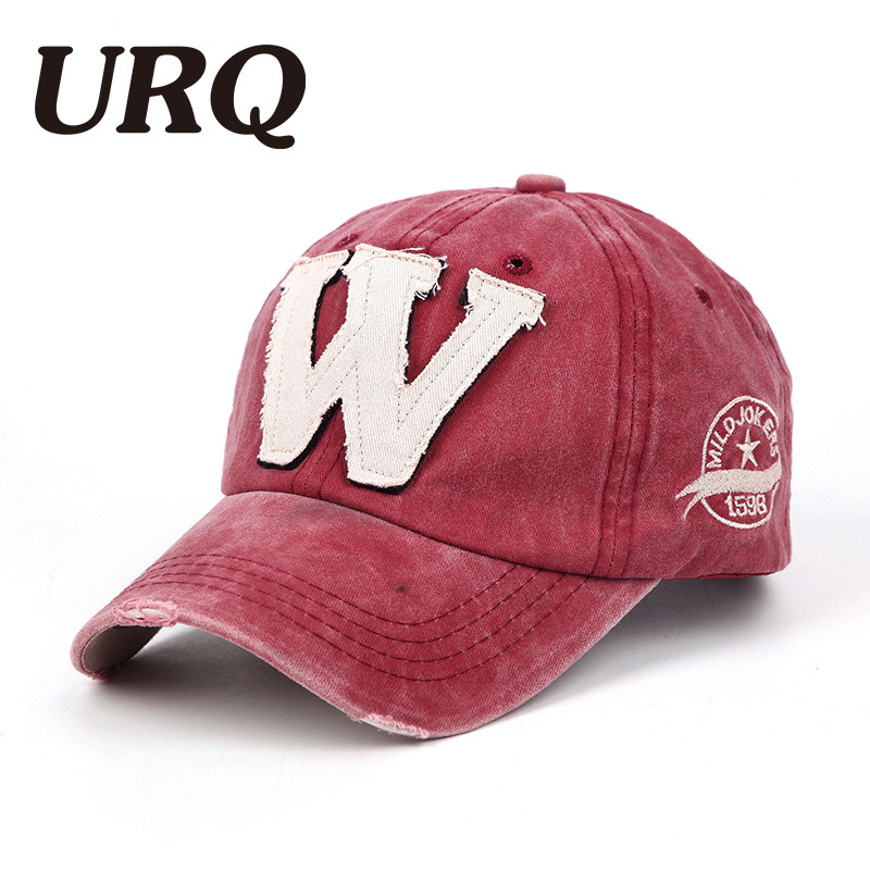 URQ Hot Cotton Embroidery Letter use in spring summer Baseball Cap For Women Men Snapback Caps Fitted Bone Casquette Hat hot summer broken heart and letter embroidery sunscreen women s baseball hat