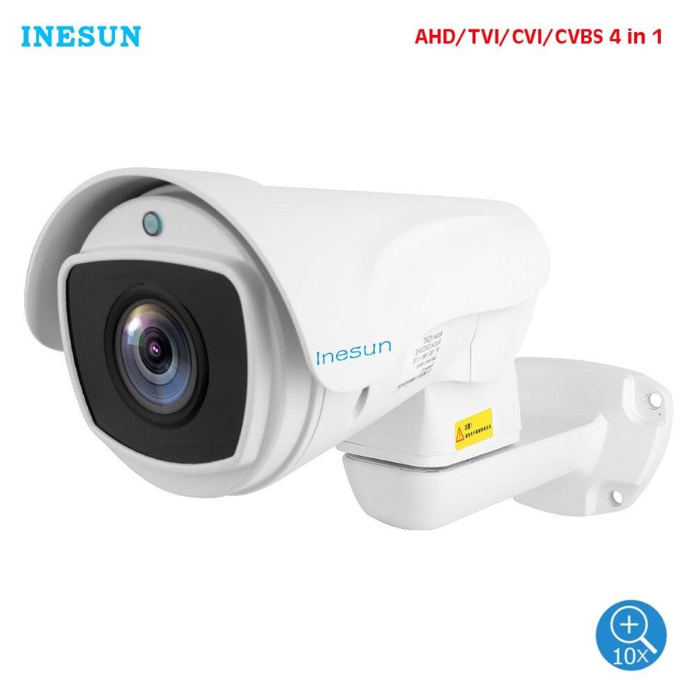 Inesun 5MP (2688x1944) Super HD AHD PTZ CCTV Camera 10X Optical Zoom Outdoor Video Surveillance Security Camera 330ft Laser IR