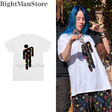 Billie Eilish star T shirt vintage hiphop streetwear high quality cotton live cartoon