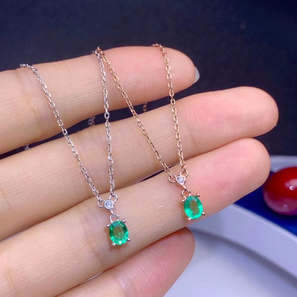 Classic natural emerald necklace, royal style, world famous gem, good quality, low price, 925 silver.