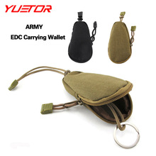 Brand Yuetor ARMY Mini EDC Carrying Bag Portable Key Change Purse Wallet Travel Key Pouch with Inner Outdoor equipment