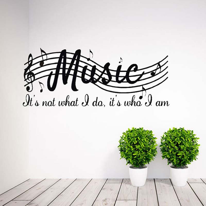 Home Decor Mural Pvc Diy Removable Wall Sticker Poster Room Decor Decal Art Musical Notes Sheet