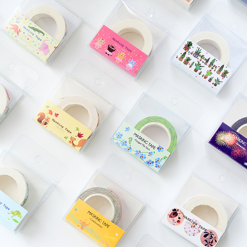 DIY Washi Tape Hand-painted Decorative Adhesive Stickers Unique Design Kawaii Japanese Paper No Trace Tearbable Masking Tape