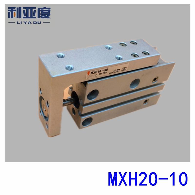 SMC type MXH20-10 pneumatic slider (linear guide) slide cylinder Bore Size 20mm Stroke 10mm smc type mxh10 25 pneumatic slider linear guide slide cylinder bore size 10mm stroke 25mm
