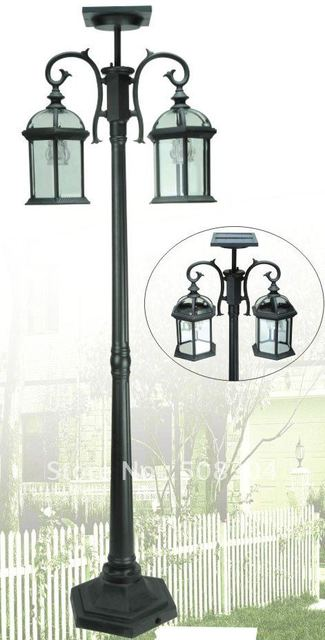Fabulous Solar Post Lamp Solar Powered No Wiring Required Waterproof Wiring 101 Hateforg