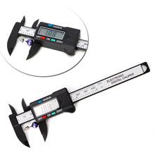 New 100mm LCD Digital Electronic Carbon Fiber Vernier Caliper Gauge Micrometer Measuring  Stone Bead Gem Jewelry Tool