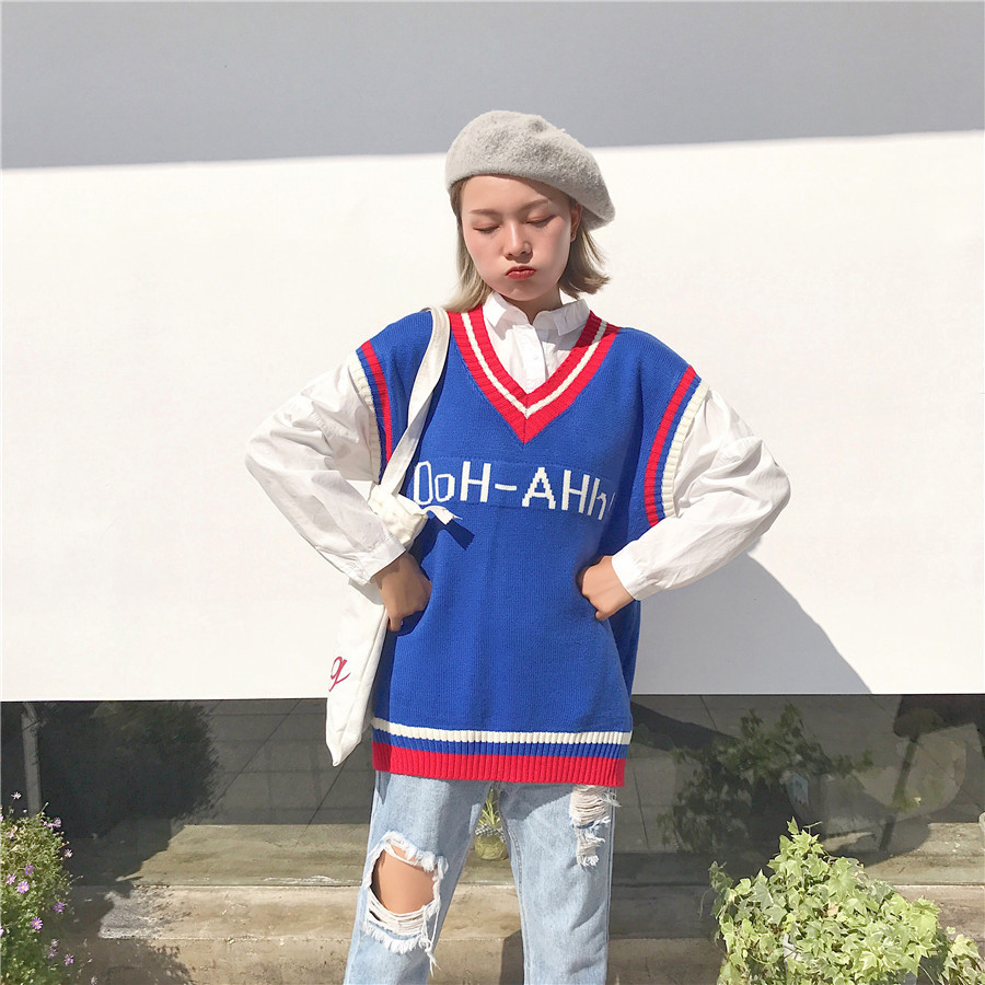 Online Shop Japanese Kawaii High School Uniform Sweater For Girl ...
