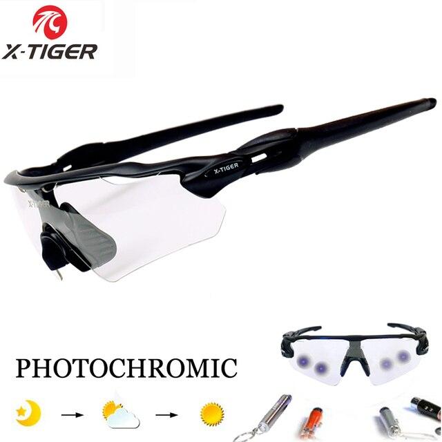 2cc892e8e8c06 X-TIGER Photochromic Polarizada Óculos de Ciclismo de Corrida de Bicicleta  Óculos Óculos de Mountain