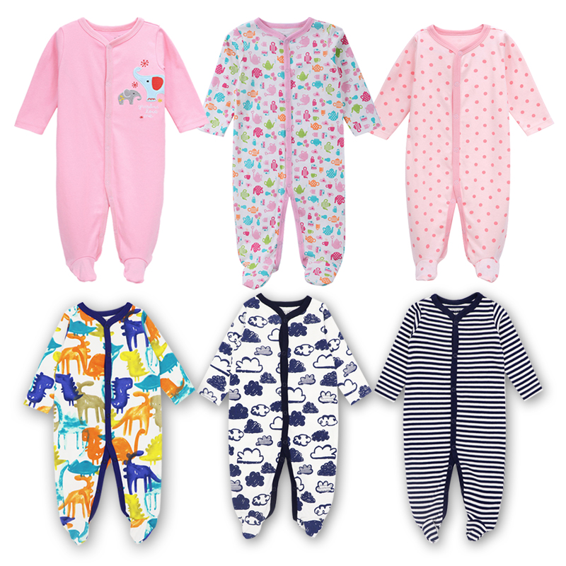 3Pcs/lot Newborn Baby Rompers Bebe Boys Girls Jumpsuits Cotton Long sleeves Infant Pajamas Babies Clothing Newborn Baby Clothes baby climb clothing newborn boys girls warm romper spring autumn winter baby cotton knit jumpsuits 0 18m long sleeves rompers