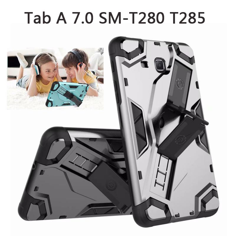 2018 New Armor For Samsung Tab A A6 T280 Case TPU Silicone +PC Shockproof Cover For Samsung Galaxy Tab a 7.0 T285 SM-T280 Case